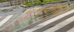 sureline.pl Linie świetlne na przejściu dla pieszych